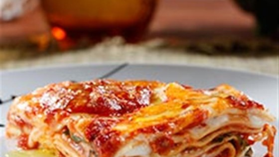 Oven Ready Lasagna With Meat Sauce And Bechamel