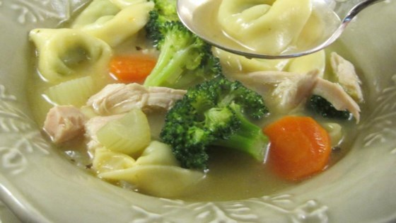 Photo of Chicken Tortellini Soup with Broccoli by Deb S.