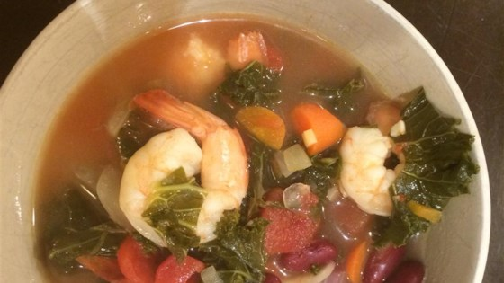 Spicy Kale and Shrimp Soup