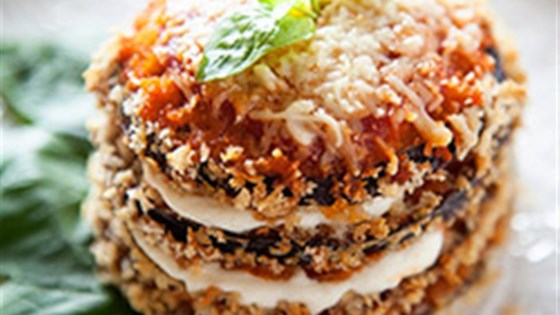 Photo of Crispy Eggplant Parmesan Stacks by RAGÚ®
