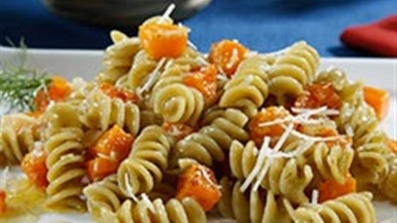 Photo of Veggie Rotini Pasta Salad with Roasted Butternut Squash and Citrus Dill Vinaigrette by Barilla