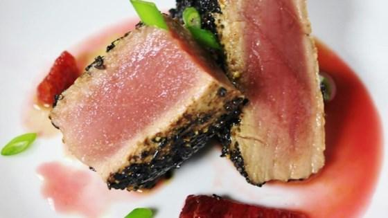 Pan-Seared Ahi Tuna with Blood Orange Sauce