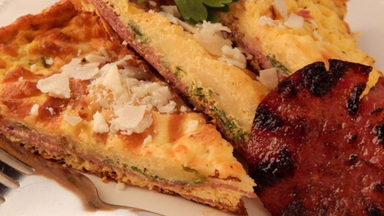Photo of Three Cheese Salami Frittata by KATIE COOKS