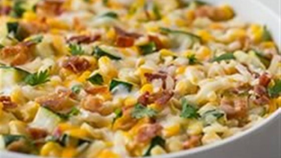Photo of Creamy Corn and Zucchini by KRAFT Shredded Cheese with a TOUCH OF PHILADELPHIA