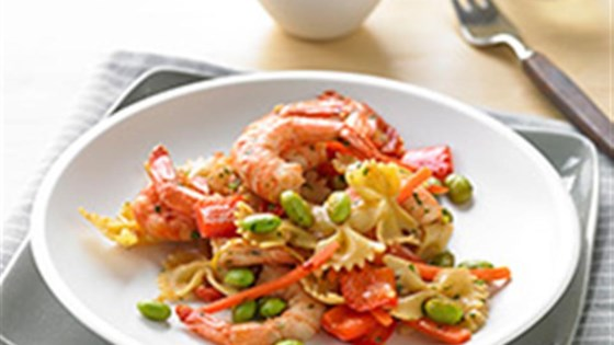 Photo of Easy Shrimp and Veggie Pasta Fresca by United Soybean Board