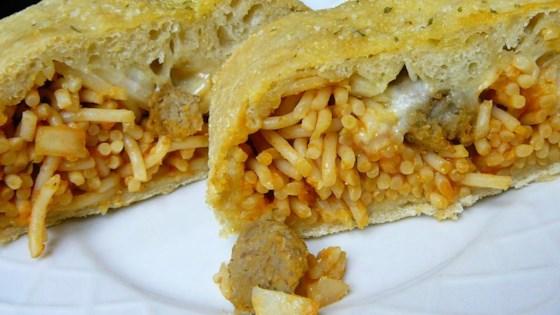 Photo of Spaghetti Bread  by sanzoe