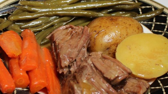 Healthier But Still Awesome Awesome Slow Cooker Pot Roast Recipe Allrecipes Com