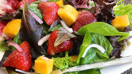 Photo of Strawberry-Mango Mesclun Salad by scoopnana