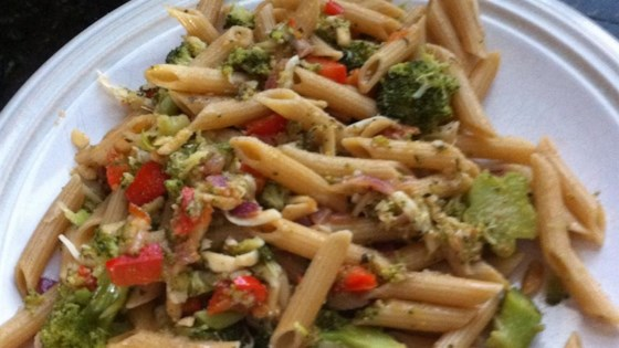 Penne with Red Pepper Sauce and Broccoli