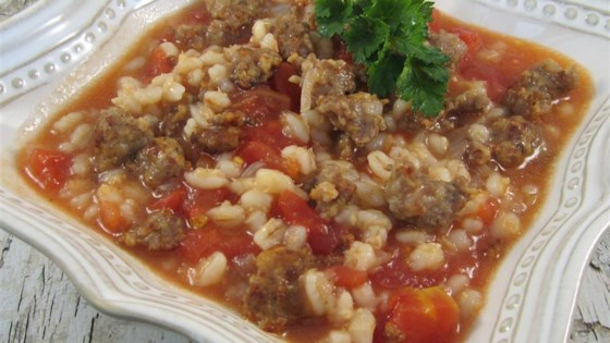 Photo of Mom's Italian Beef Barley Soup by RUSTEE