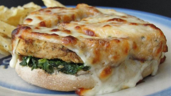 Photo of Kale Pesto English Muffin Pizza by bentgrass252