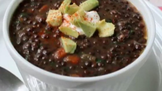 Photo of Chef John's Black Lentil Soup by Chef John