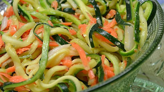 Photo of Zucchini and Carrot Coleslaw by Chef W. J. Anderson