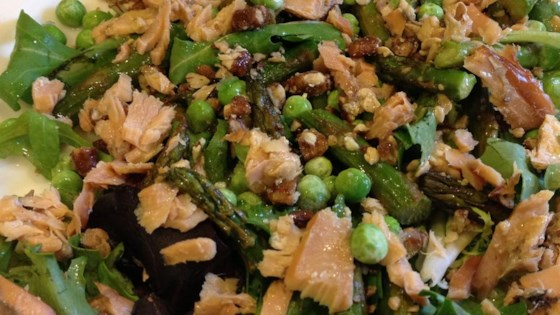 Photo of Asparagus and Smoked Salmon Salad by MommyBennett