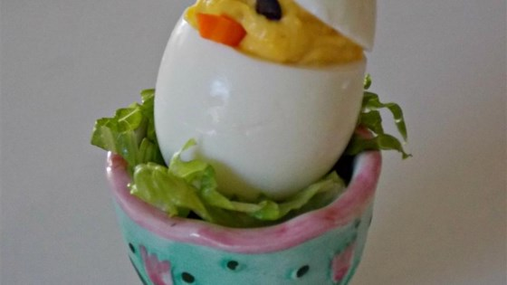 Easter Chick Deviled Eggs