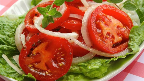 Photo of Sweet 'n' Sour Tomato Salad by Inspired by Home Cooks