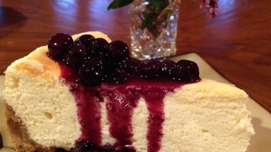 Photo of Lemon Souffle Cheesecake with Blueberry Topping by MERRYMOBERRY