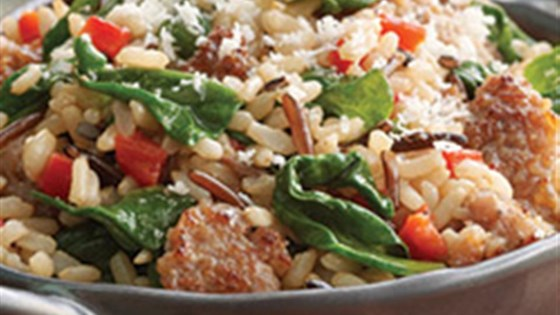 Photo of Brown and Wild Rice with Sausage by Minute® Rice