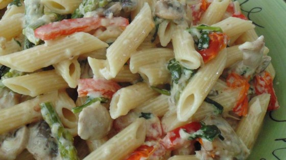 Photo of Creamy Penne Pasta Primavera by gretchen