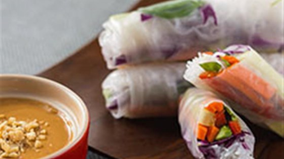 Photo of Spring Rolls with Coconut Peanut Sauce by Silk