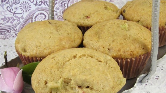 Tuxedoville's Rhubarb Muffins