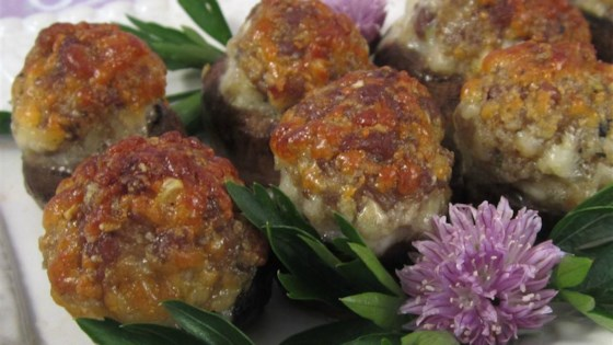 Photo of Sausage-Stuffed Mushrooms by Jamie Girl