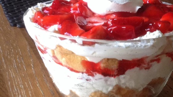 Raspberry Jello Angel Food Cake Dessert