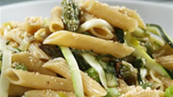 Photo of Barilla® PLUS® Penne with Walnuts, Lemon, Spring Greens and Herbs by Barilla®
