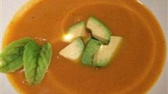 Photo of Spicy Curried Sweet Potato Soup (Paleo and GF Approved) by Amanda L.