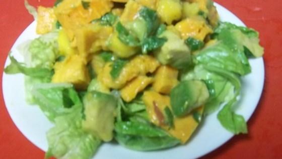 Roasted Sweet Potato Mango Salad