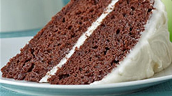Photo of Double Chocolate Cake with Creamy Frosting by Voskos