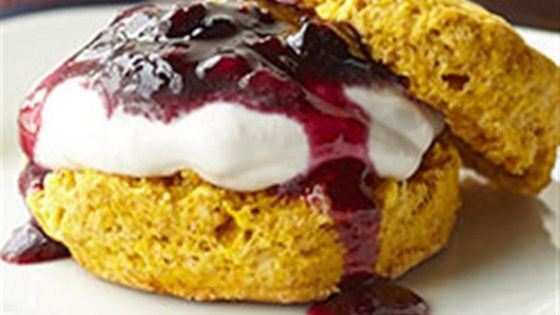 Photo of Pumpkin Shortcakes with Blueberry Cream Filling by Voskos