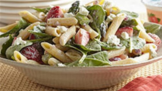 Photo of Strawberry-Asparagus Pasta Salad by Voskos