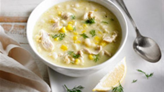Photo of Creamy Orzo, Corn and Chicken Soup by Dairy Farmers of Canada Real Cream