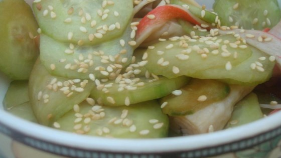 Photo of Sunomono (Japanese Cucumber and Seafood Salad) by xerxes2695