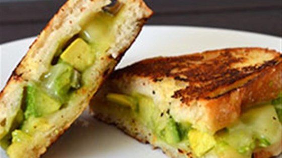 Photo of Creamy Jack Grilled Cheese with Fruit-Glazed Avocado by Avocados from Mexico