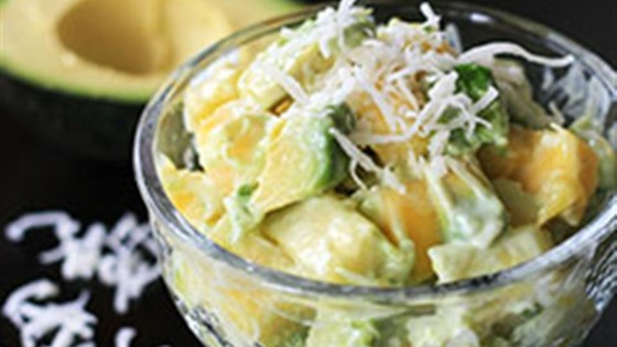 Photo of Tropical Avocado Fruit Salad with Honey-Lime Dressing by Avocados from Mexico