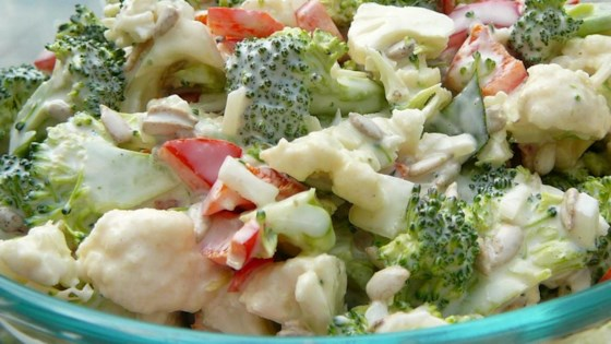 Photo of Broccoli Cauliflower Pepita Salad by Sarah O