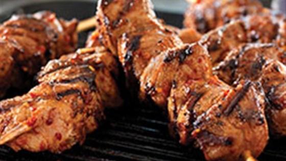 Spicy Korean Pork Skewers
