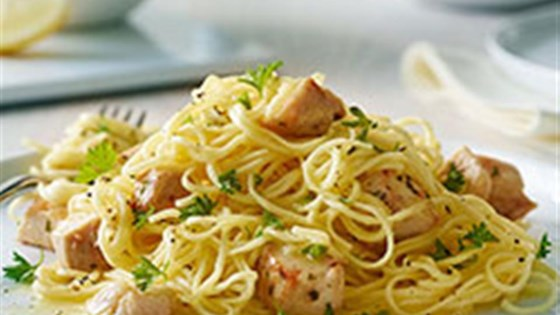 angel hair pasta with chicken recipe taste of home angel hair pasta with lemon and chicken lighter recipe