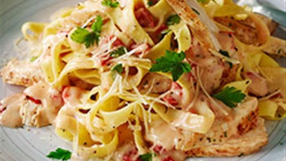 Photo of Pasta with Chicken and Roasted Pepper Cream Sauce (Lighter) by Buitoni