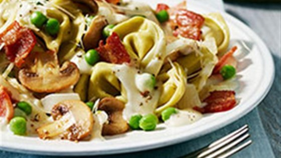 Photo of Tortellini Alfredo with Peas and Bacon by Buitoni