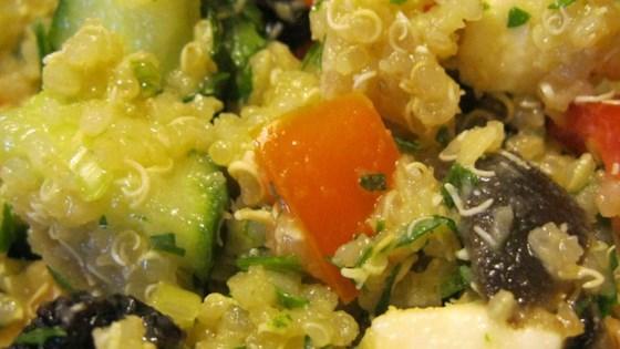 Veggie, Almond, and Raisin Quinoa Salad