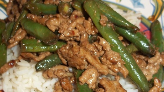 Photo of Kicked-Up Ground Pork with Green Beans by mihart.m