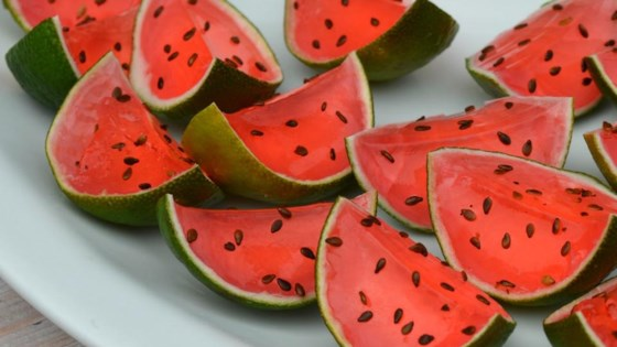 Photo of Sliced Watermelon Jell-O® Shots by blancdeblanc