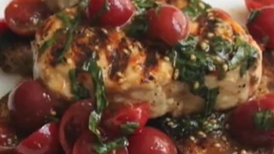 Photo of Chef John's Grilled Swordfish Bruschetta  by Chef John