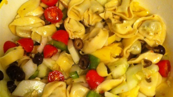 Photo of Easy Tortellini Salad by Lillian
