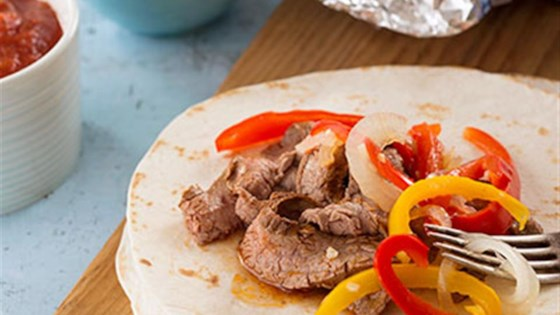 Easy Flank Steak Fajitas