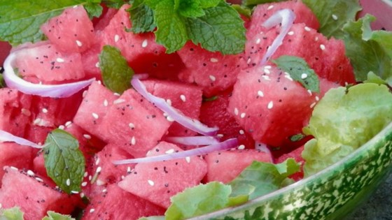 Spinach Watermelon-Mint Salad