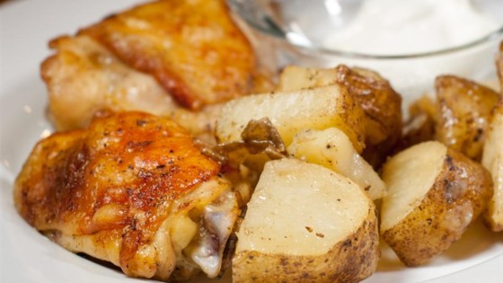 Photo of Garlic Roasted Chicken and Potatoes by Debi Blair McGinness